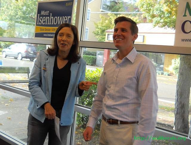 Sen. Maria Cantwell and Matt Isenhower