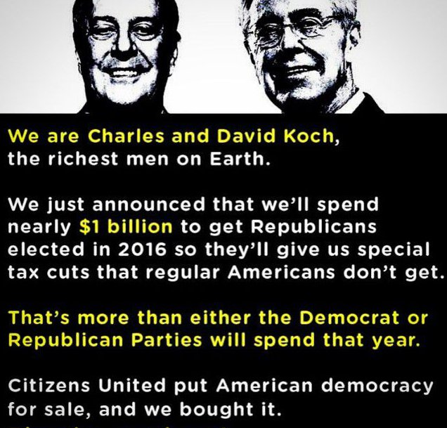 Democracy for Sale, owned by Koch brothers