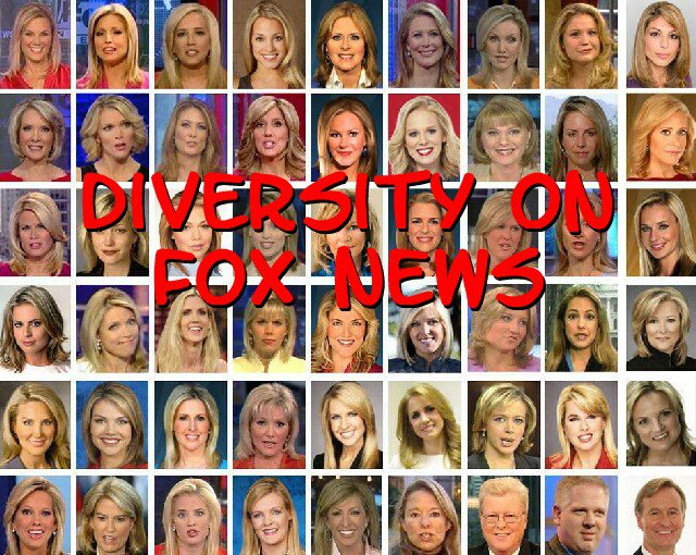Diversity on Fox News:  dozens of blondes