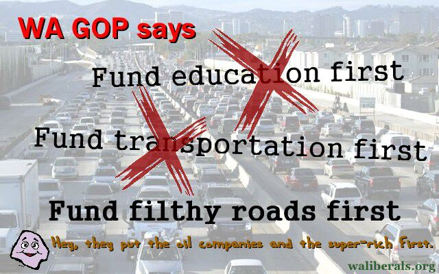 WA GOP: Fund Filthy Roads First