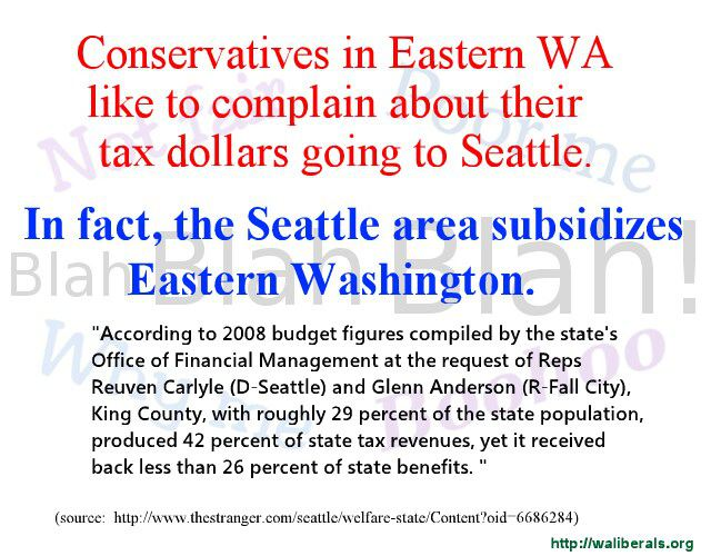 Seattle subsidizes Eastern Washington