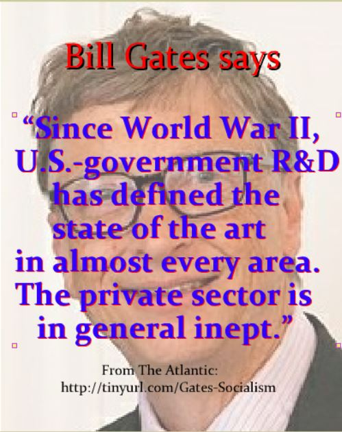 Since World War II, U.S.-government R&D has defined the state of the art in almost every area. The private sector is in general inept
