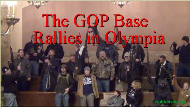 The GOP base rallies in Olympia