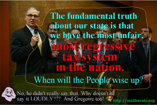 Governor Inslee on our unfair, regressive tax system