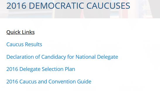 WA Dems Caucus page