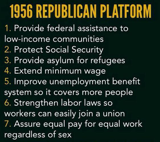 1956 GOP platform was a progressive document