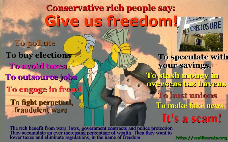 Conservatives' freedom is a scam