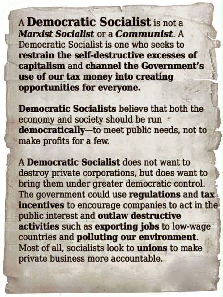 Description of Democratic Socialism that makes it look compatible with capitalism