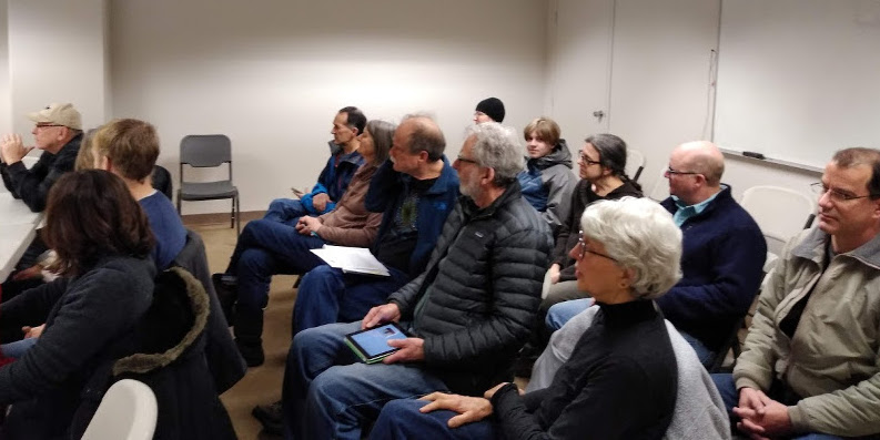 Green New Deal supporters at Rep. Adam Smith's office in Renton, WA, Feb 16, 2019