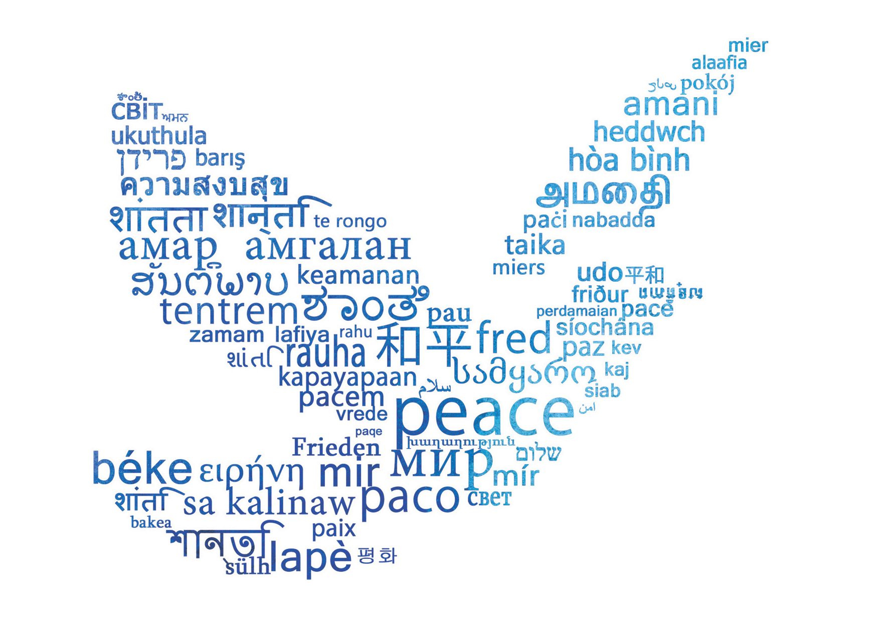 Peace symbol with dove