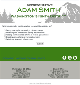 Rep. Adam Smith survey